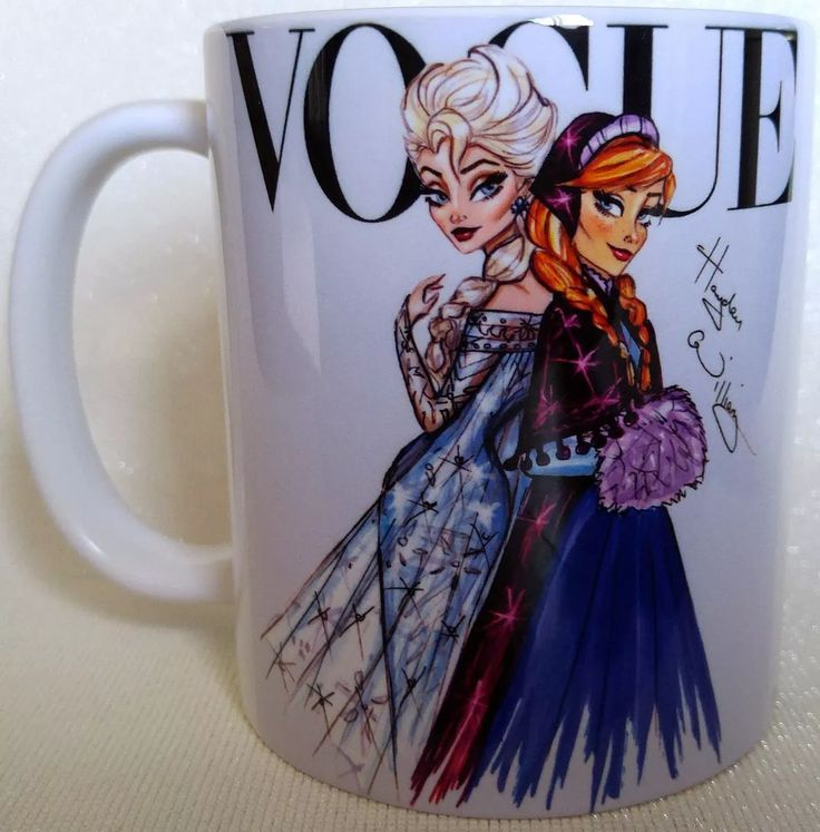 caneca princesas disney frozen elsa & anna - vogue