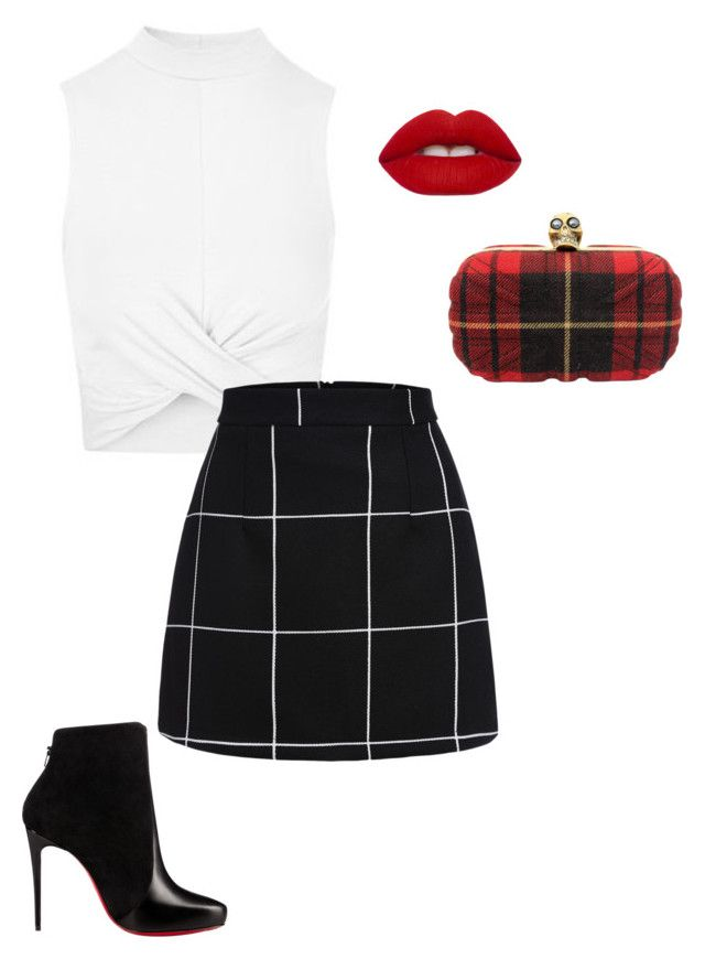 """""""Untitled #206"""" by kayliespaulding on Polyvore featuring Topshop, Christian Louboutin, Alexander McQueen and Lime Crime"""