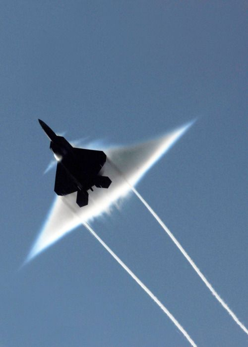 "thewelovemachinesposts:  ""F-22 Raptor going supersonic [1503x2100]  Source: http://i.imgur.com/f6KfOBb.jpg  """