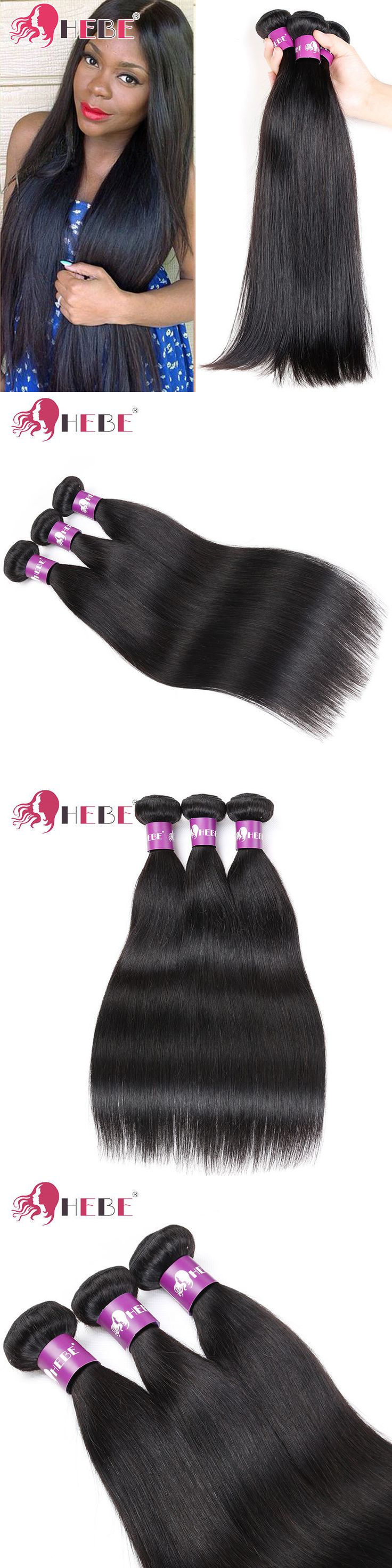 Hair Extensions: Brazilian Straight Human Hair Weave 3 Bundles 300G Straight Hair Extensions Weft -> BUY IT NOW ONLY: $90.25 on eBay!