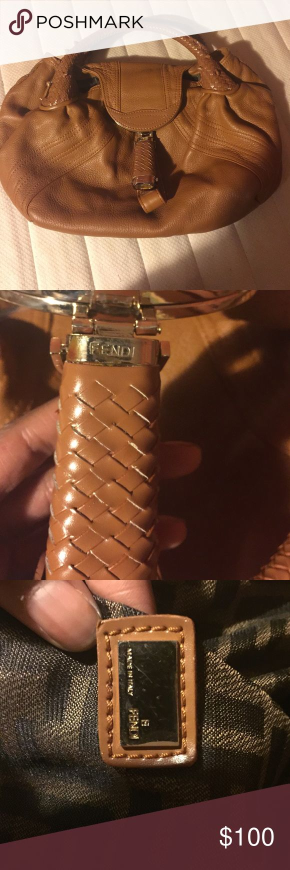 Camel Fendi spy bag Fendi bag. It has some around small  detailing around the side and bottom, but still in great shape. I will except offers! Fendi Bags