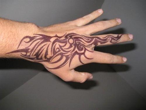 10 Tribal Hand Tattoos for Men (10)