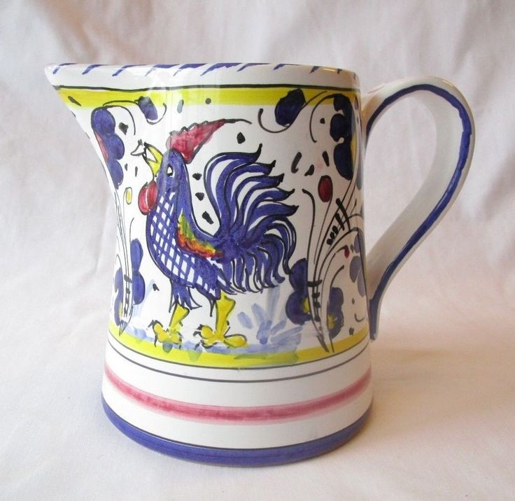 Italian Hand Painted Roosters