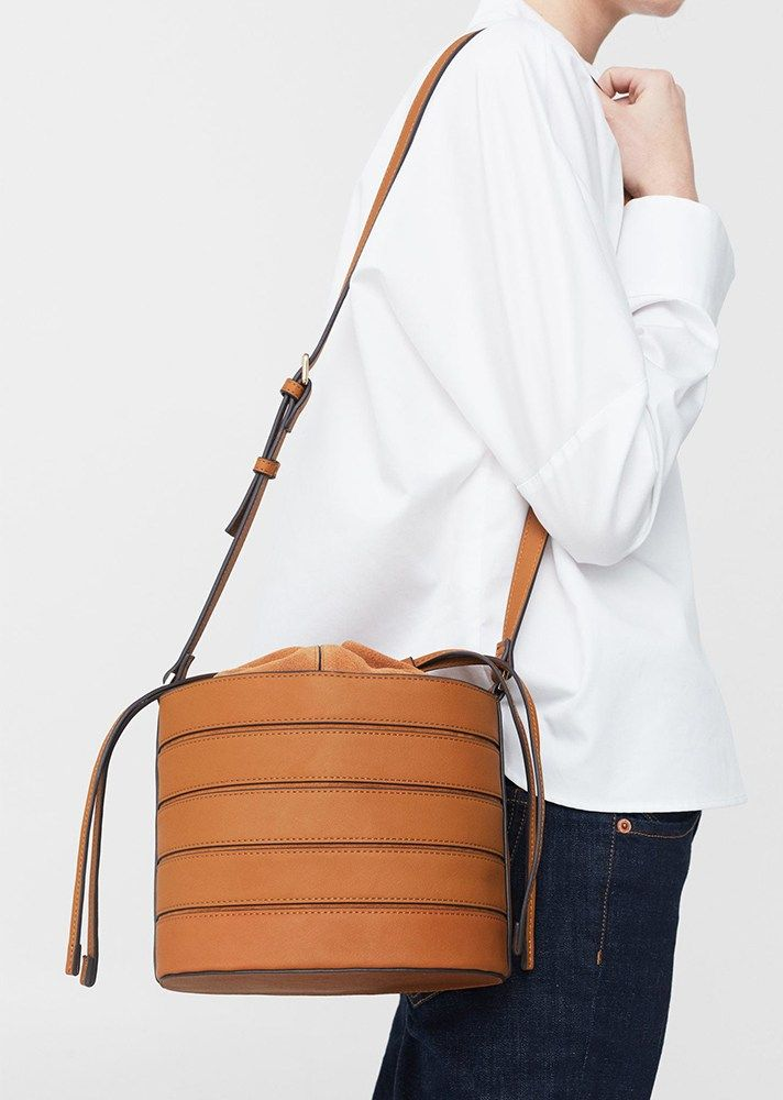 Top Handbag Trends Spring 2017 | The Look-At-Me Crossbody | Mango Leather Bucket Bag, $79.99; at Mango