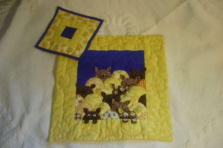 """Записки на полях жизни: Кукольное одеяло """"Кошки на выгуле"""""""