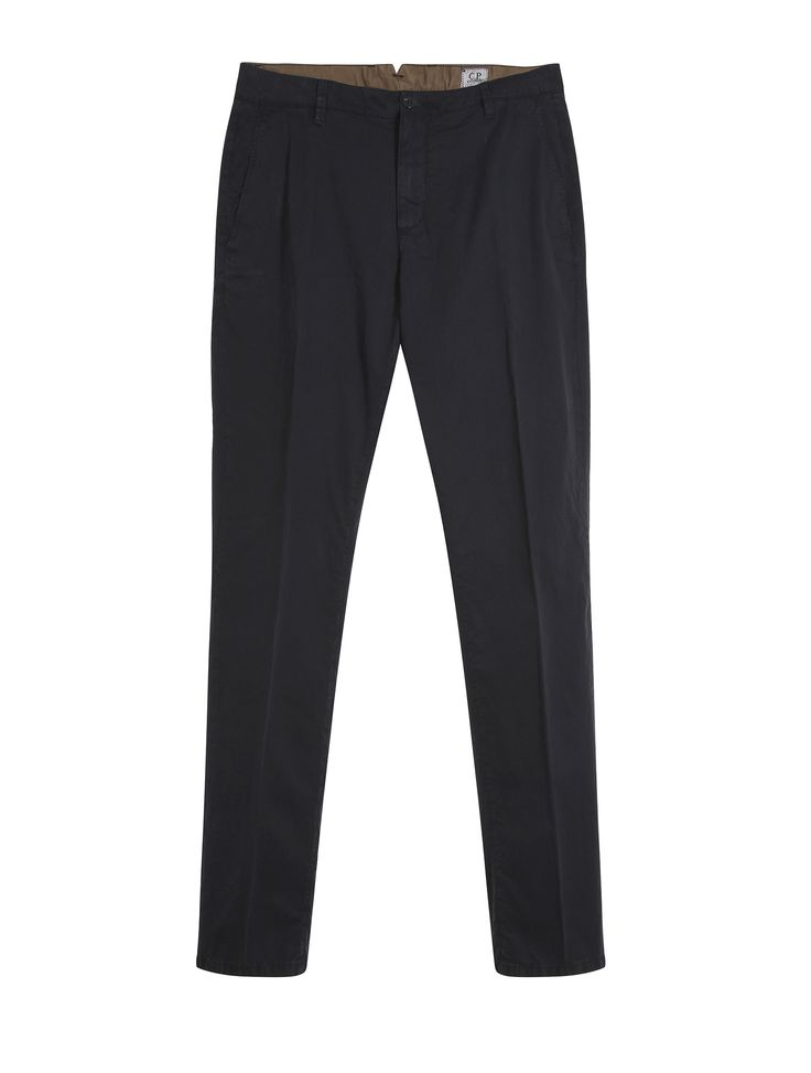 C.P. Company Old Dyed Cotton Gaberdine Slim Fit Trousers in Navy