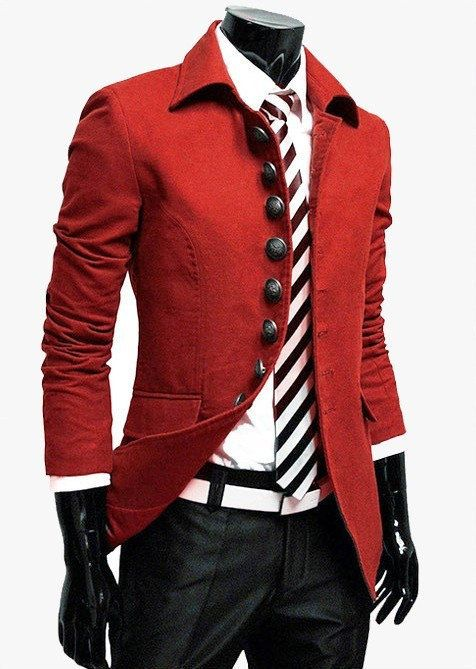 Top Designer Mens Casual Slim Military Jacket Trench Coat Suit Blazer Collection