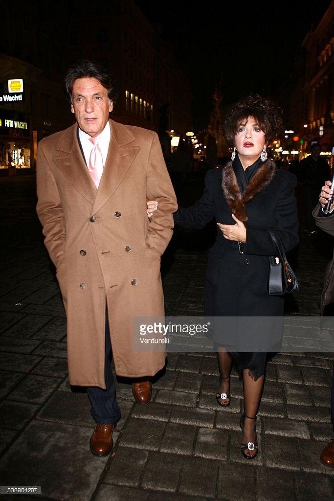 Marcella Bella and Mario Merello during Karl Hainz Grasser and Fiona Swarovski Wedding - Reception at Ristorante Meini in Vienna, Wien, Austria.