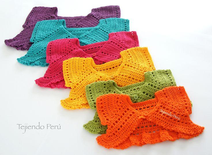Crochet paso a paso: bolero mariposa para bebés y niñas! Explicación de 6 tallas :) Tutorial y video ༺✿ƬⱤღ http://www.pinterest.com/teretegui/✿༻