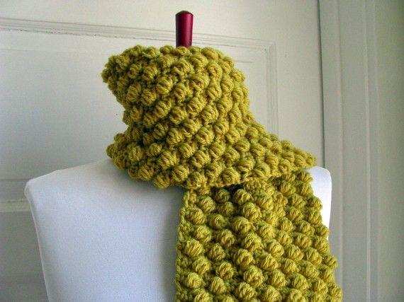 Crochet Scarf Patterns With Popcorn Stitch : 36 best images about Crochet-31: Crochet Bubble Stitch on ...