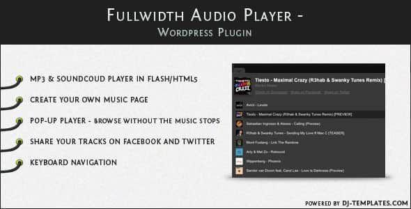 Fullwidth Audio Player v2.0.1 – WordPress Plugin