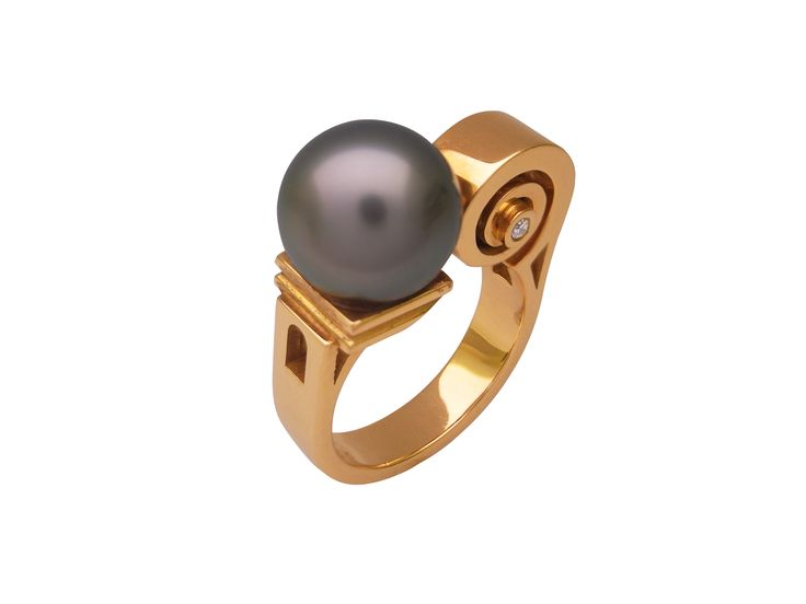Bague Perle volute  #tournaire #jewels #jewelry #luxe #perle #pearl #bague #ring #volute