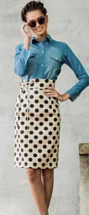 adore this dotted pencil skirt http://rstyle.me/n/t45ynr9te