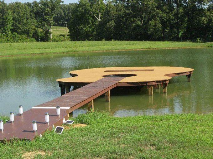 Pond Dock Designs | Guitar Shaped Boat Dock