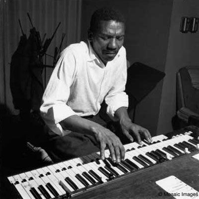 Jimmy Smith. I got to meet Jimmy while restocking the bar cooler when I worked as a night porter at a hotel. I later got to see him perform and started collecting his records. Super guy and a keyboard god.