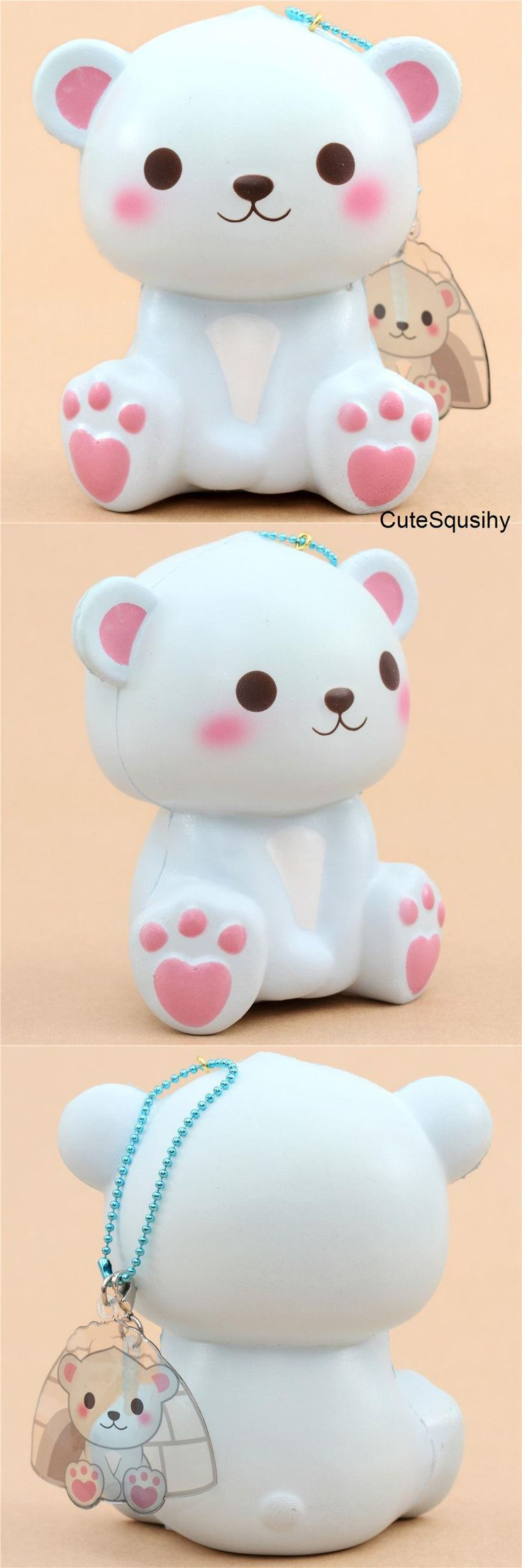 Kawaii Puni Maru blue polar bear squishy!