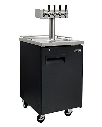 Best Kitchen Faucet   Kegco Commercial Grade Homebrew Kegerator Four Faucet Ball Lock Keg Dispenser Black *** Check this awesome product by going to the link at the image. Note:It is Affiliate Link to Amazon.