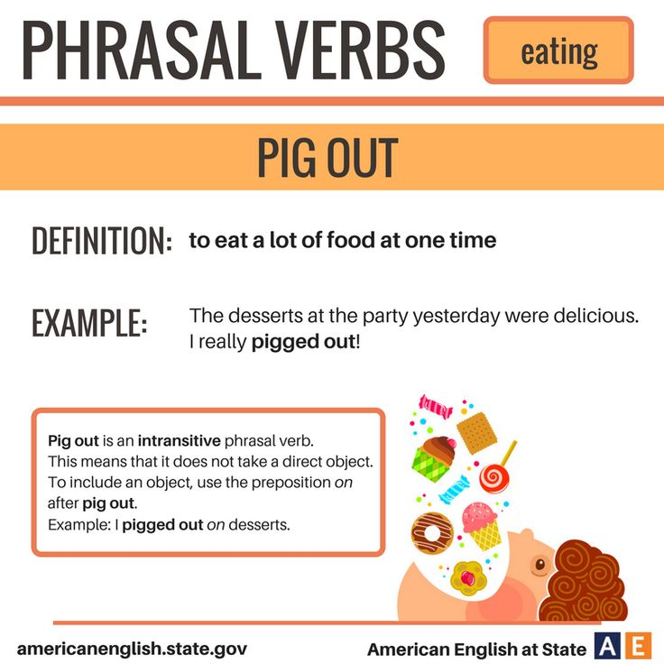 Phrasal Verbs: Eating - Pig Out