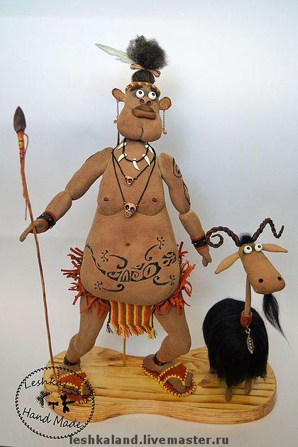Ароматизированные куклы ручной работы. Заказать Буи-Тук и его боевой козел. Лена Лешка. Ярмарка Мастеров. Интерьерная игрушка