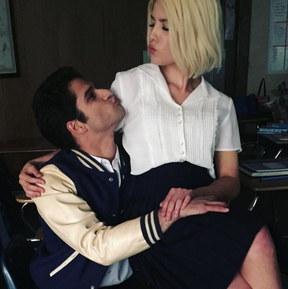 halsey and tyler posey on the set of the colors music video ❤️❤️❤️❤️❤️❤️❤️❤️