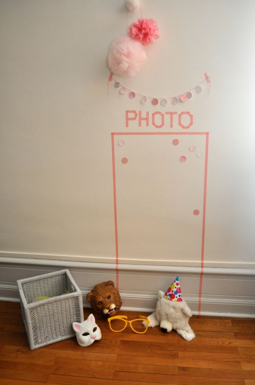 Idea fotomatón para cumple de niños
