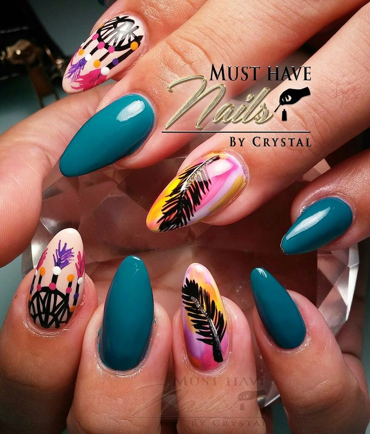 The 25 best hippie nail art ideas on pinterest hippie nails dream catcher and feather native indian hippie nail arthippie prinsesfo Gallery