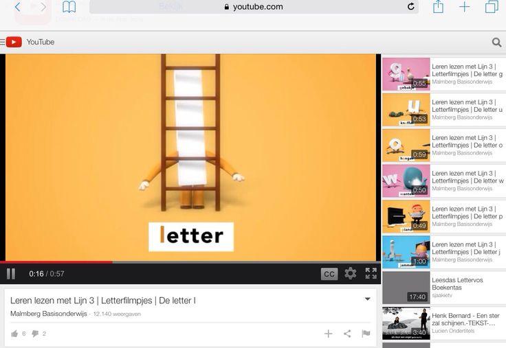 Heel veel leuke filmpjes, steeds over één letter. Geen link: zelf even intypen op YouTube.