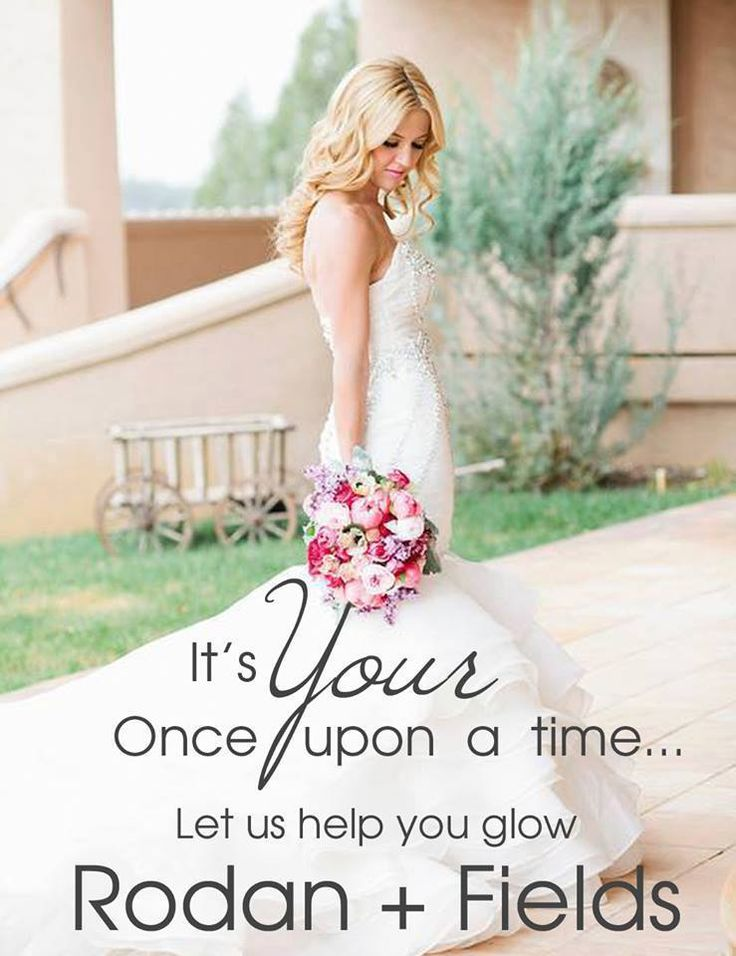 It's YOUR Once Upon a time . . . Wedding season is coming! Whether you're the bride, bridesmaid or mother of bride or groom... you want to look FABULOUS and feel confident on that special day! Rodan + Fields Award Winning skincare delivers AMAZING results ~ Guaranteed!! Why would you settle for anything less than the BEST for your Special Day?! https://wkauffman.myrandf.com/