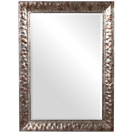 Tatum Hammered Metal Finish 44 Quot High X 32 Wide Wall Mirror