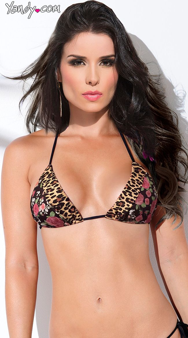Wild Child Triangle Bikini Top, Animal Print Triangle Top