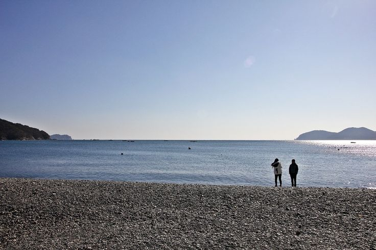 couple of the beach, Geoje Island, South korea