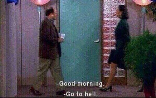 Oh my usually mornings