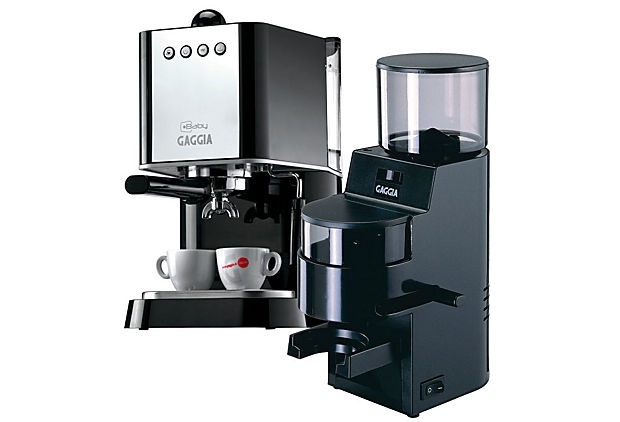 Black Gaggia Baby & MDF Grinder Package on OneKingsLane.com    Oof, that's a good deal....so....tempted....to....buy