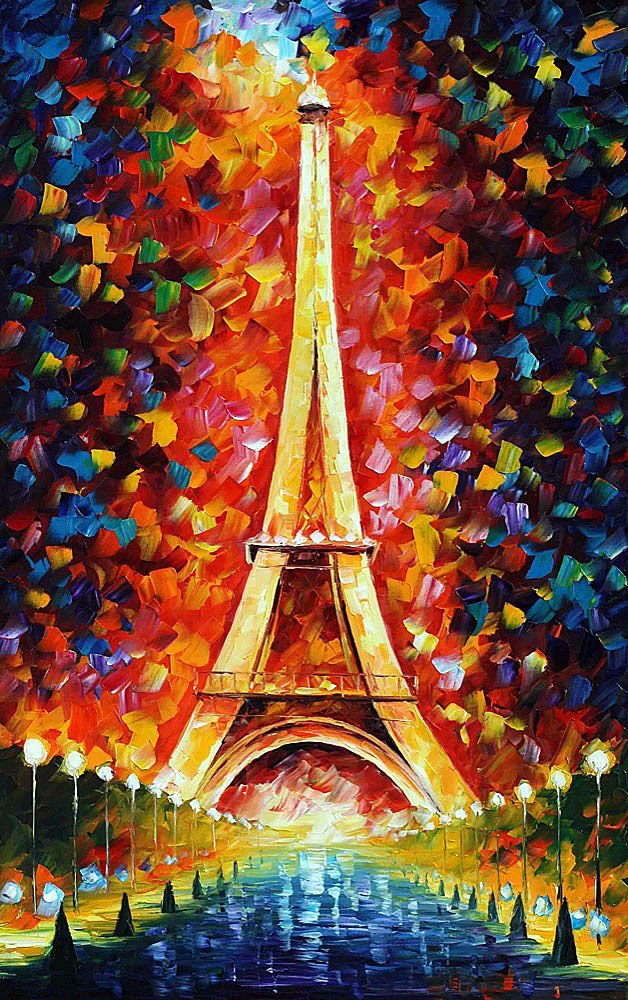 PARIS EIFFEL TOWER LIGHTED - pintura al oleo de Leonid Afremov. Sólo hoy 79$. Envío gratis https://afremov.com/PARIS-EIFFEL-TOWER-LIGHTED-2-PALETTE-KNIFE-Oil-Painting-On-Canvas-By-Leonid-Afremov-Size-48x30.html?bid=1&partner=20921&utm_medium=/offer&utm_campaign=v-ADD-YOUR&utm_source=s-offer