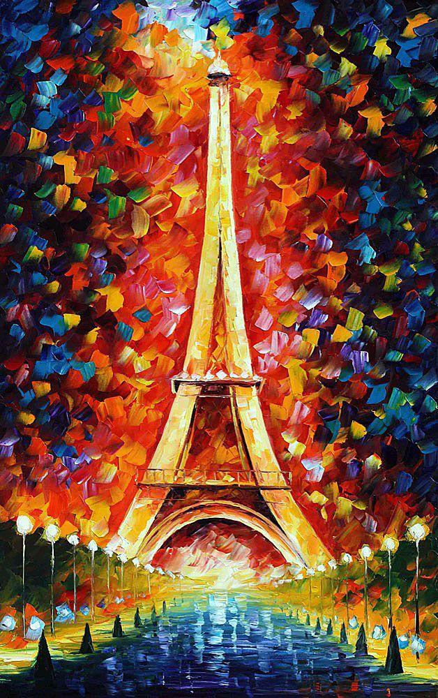 PARIS EIFFEL TOWER LIGHTED - pintura al oleo de Leonid Afremov. Sólo hoy 79$. Envío gratis https://afremov.com/PARIS-EIFFEL-TOWER-LIGHTED-2-PALETTE-KNIFE-Oil-Painting-On-Canvas-By-Leonid-Afremov-Size-48x30.html?bid=1&partner=20921&utm_medium=/offer&utm_campaign=v-ADD-YOUR&utm_source=s-offer