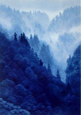 東山魁夷 霧の山峡
