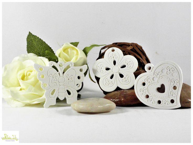 farfalla, cuore o fiore in gesso ceramico profumato