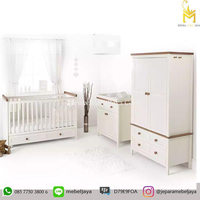 Tempat tidur bayi desain simple dengan lemari popok dan lemari Pakaian untuk menyimpan keperluan baby Anda - Jual Set Tempat Tidur Bayi Murah Terbaru