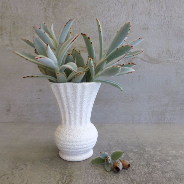 Vintage Diana Pottery  Thistle Vase V5  Cream and Turquoise Blue Textured Surface 13.1cm. Mid Century Australian Pottery