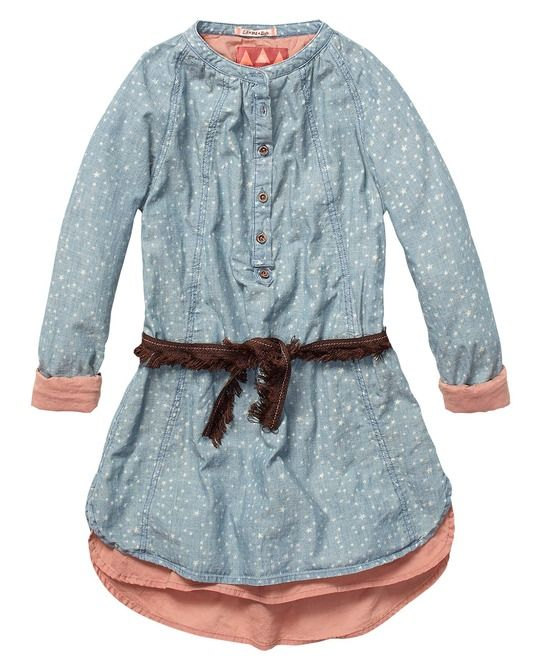 Tunic Dress In Various Dessins With Belt Scotch r'belle