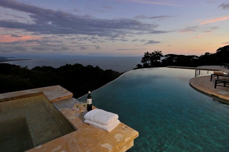 Image detail for -The spectacular infinity edge pool and hot tub is perfect for ...