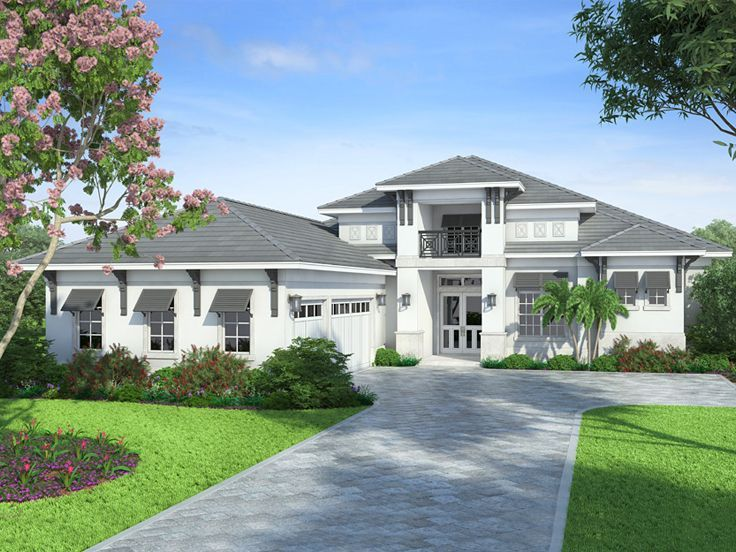 069h 0051 luxury house plan with west indies styling 4 bedrooms 45 - West Indies House Plans