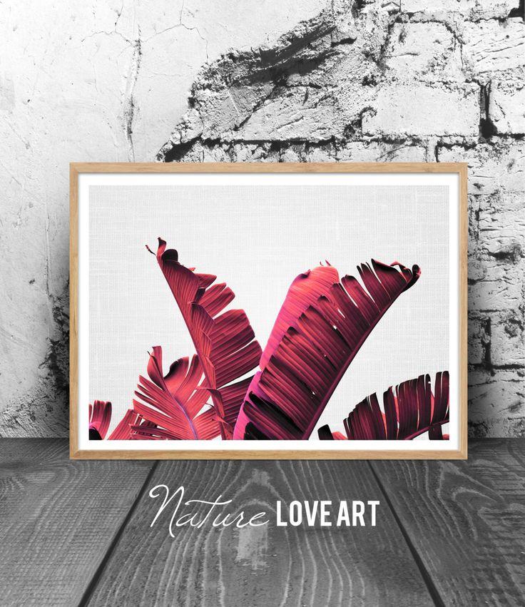 Photographie palmier, feuilles de palmier, couleur mode, déco fashion, déco murale palmier, poster tropical, poster plante, photo bananier de la boutique NatureLoveArt sur Etsy