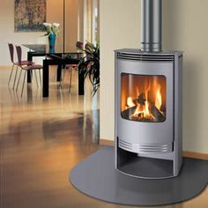 gas fireplace freestanding - Google Search