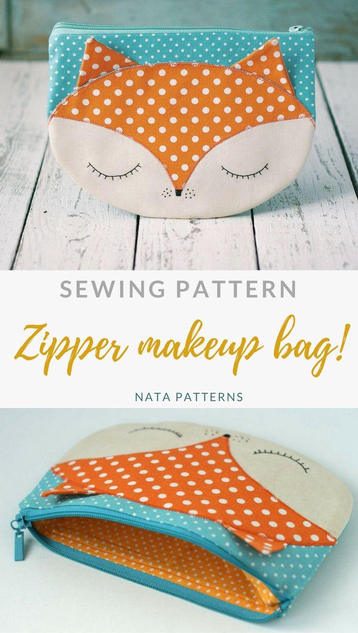Bag Pattern Pdf Zipper Makeup Bag Pdf Sewing Pattern Zipper