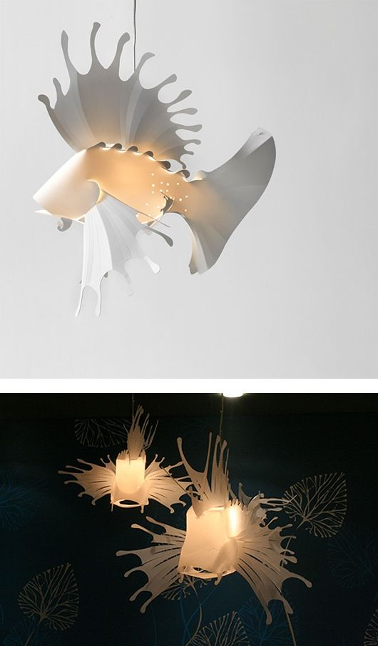 This creative light design is something that would need to be linked with its surroundings