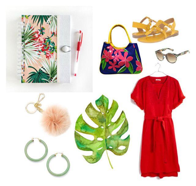 Tropical #1 by iwona-estera on Polyvore featuring Madewell, Franco Sarto, Palm Beach Jewelry, Michael Kors and Arizona