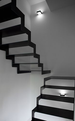 Black Stairs in In Piacenza. Design by Davide Groppi.
