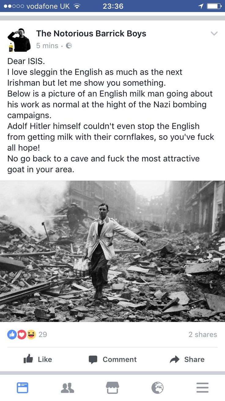 Irish on ISIS about the English...