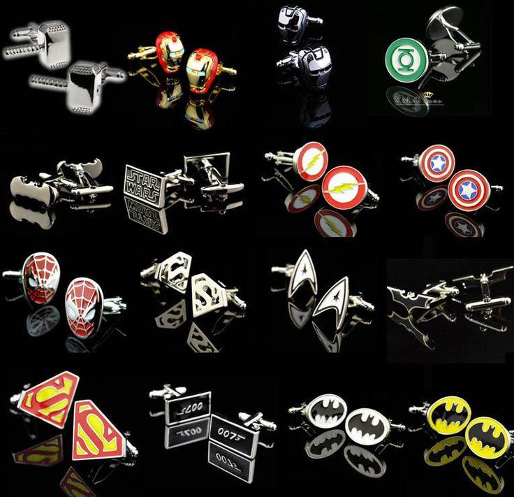 Superhero Crazy Cufflinks DC World Shop http://dcworldshop.com/superhero-crazy-cufflinks/    #suicidesquad #superhero #dcuniverse #bataman #superman